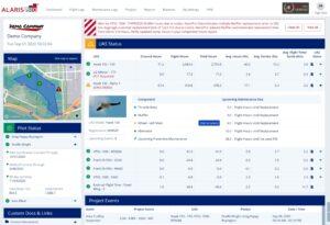 Example of AlarisPro database page