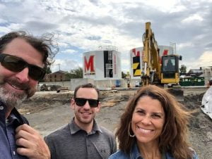 Scott Plank with team at the construction site of The Hall CP
