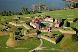 View of Fort McHenry from one of the Charm City Helicopter tours.