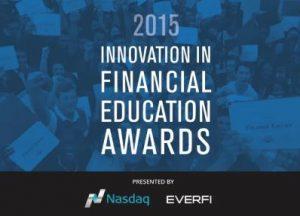 Innovation in Financial Education Award Nasdaq Everfi Scott Plank Award