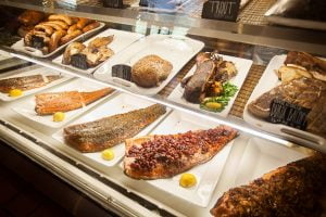 Fresh fish from Neopol Savory Smokery in Belvedere Square.