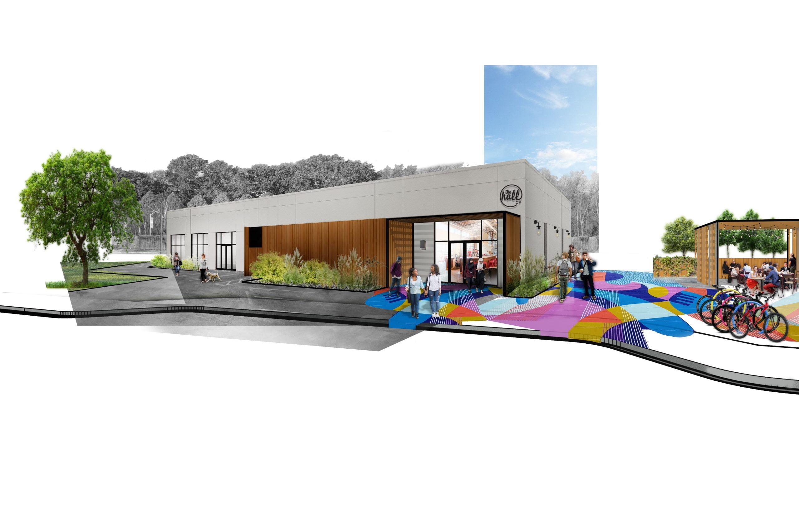 The Hall CP Scott Plank Rendering Design Exterior