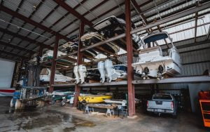 Boatel racks located in MarineMax Baltimore as one of Scott Plank's new investments.