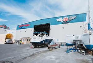 Boat storage space at MarineMax Baltimore located at 1800 S. Clinton St. in Baltimore.